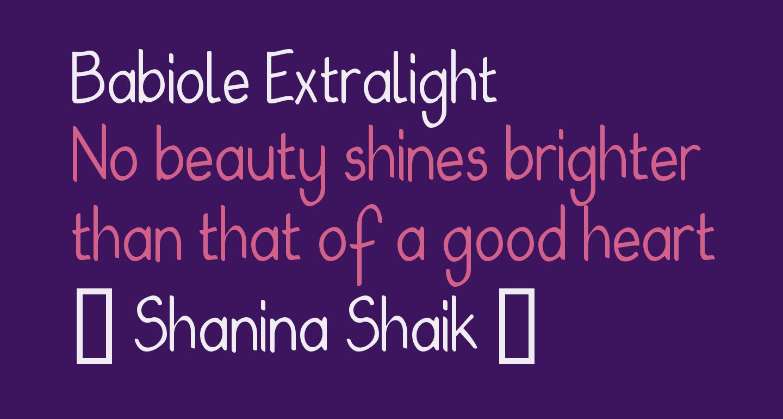 Babiole Extralight