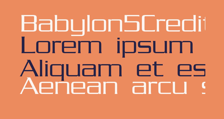 Babylon5Credits