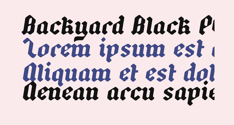 Backyard Black PERSONAL Italic