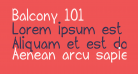 Balcony 101