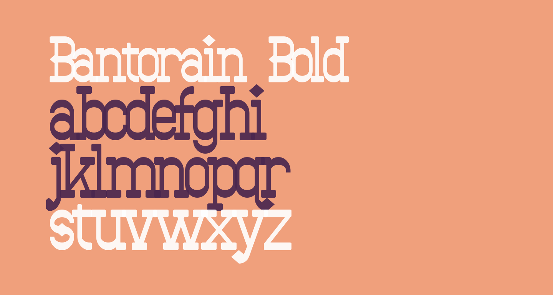Bantorain Bold