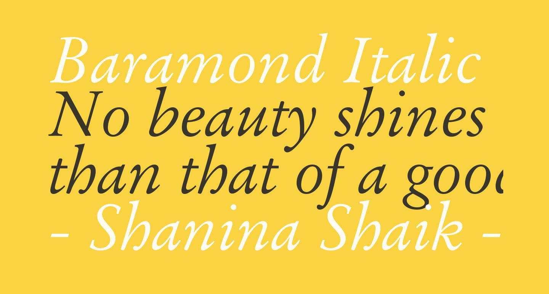 Baramond Italic