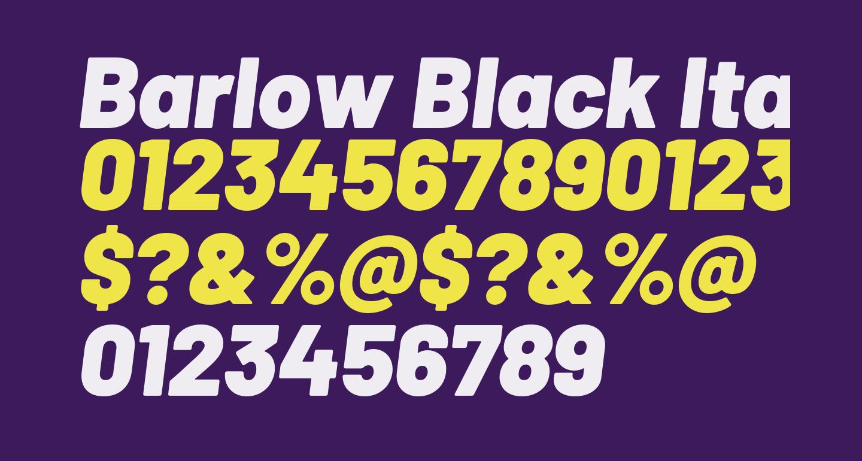 Barlow Black Italic