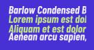 Barlow Condensed Bold Italic