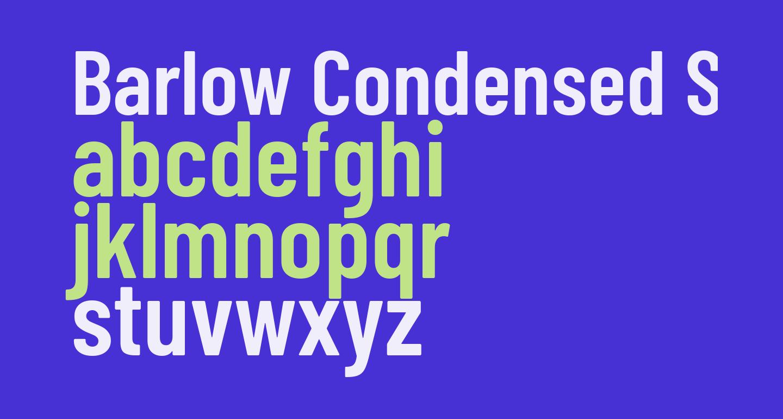 Barlow Condensed SemiBold