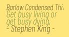 Barlow Condensed Thin Italic