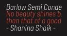 Barlow Semi Condensed Light Italic