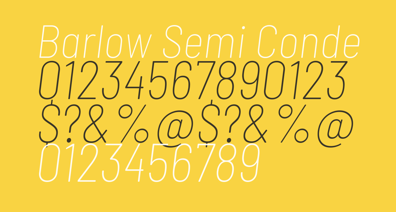 Barlow Semi Condensed Thin Italic