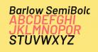 Barlow SemiBold Italic