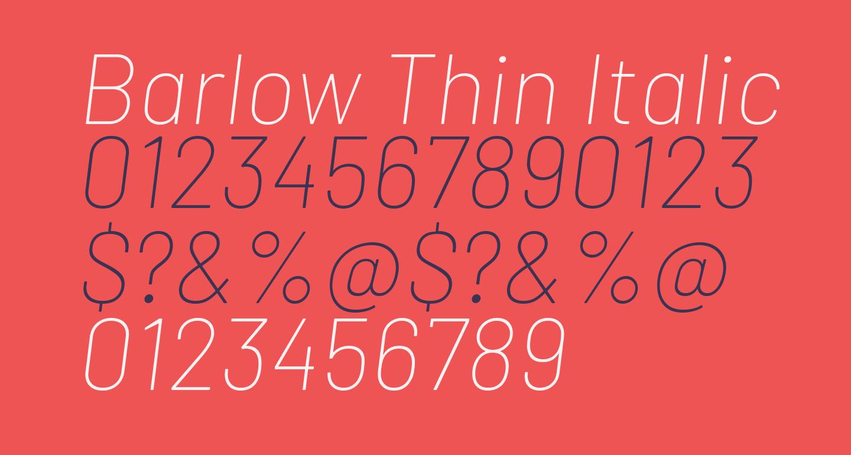Barlow Thin Italic