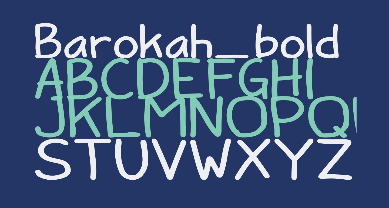 Barokah_bold