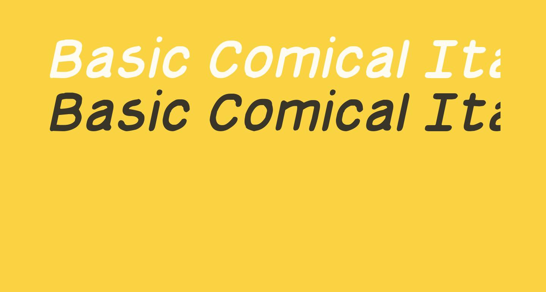 Basic Comical Italic NC