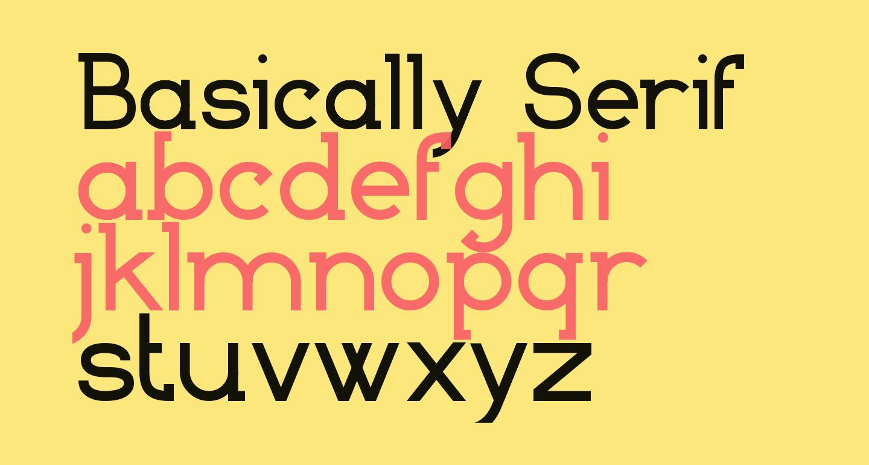 Basically Serif_FREE-version