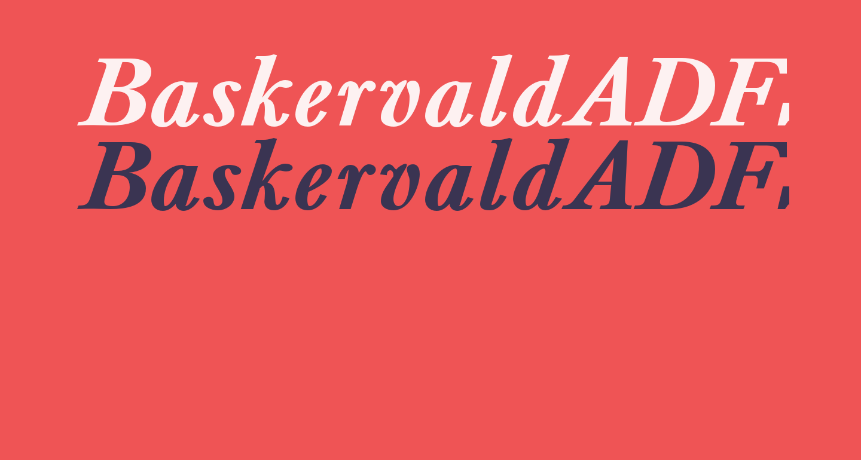 BaskervaldADFStd-BoldItalic