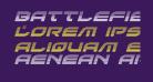 Battlefield Gradient Italic