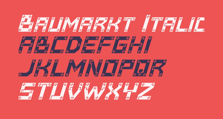 Baumarkt Italic