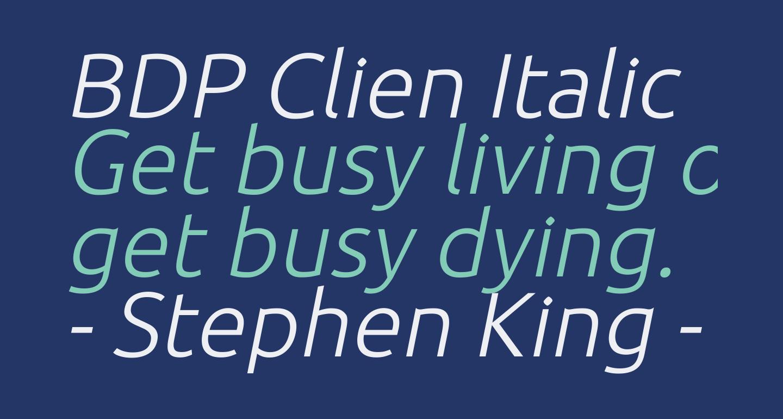 BDP Clien Italic