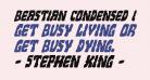 Beastian Condensed Italic