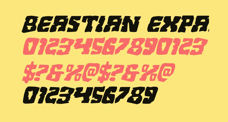 Beastian Expanded Italic