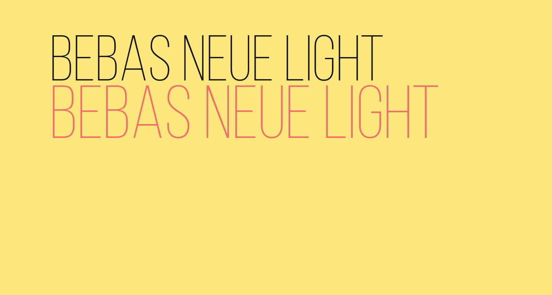 Bebas Neue Light