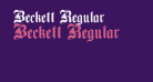Beckett Regular