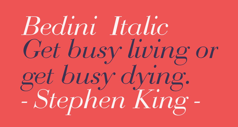 Bedini  Italic