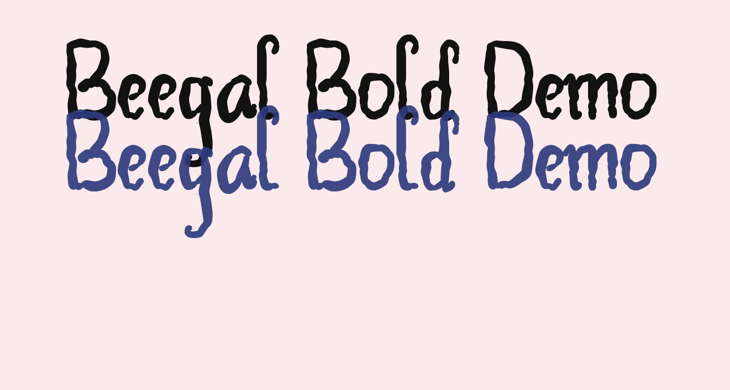 Beegal Bold Demo
