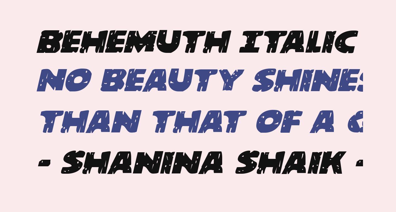 Behemuth Italic