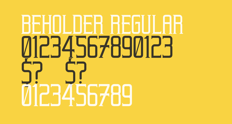 Beholder Regular