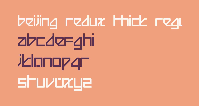 Beijing Redux Thick Regular