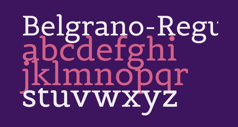Belgrano-Regular