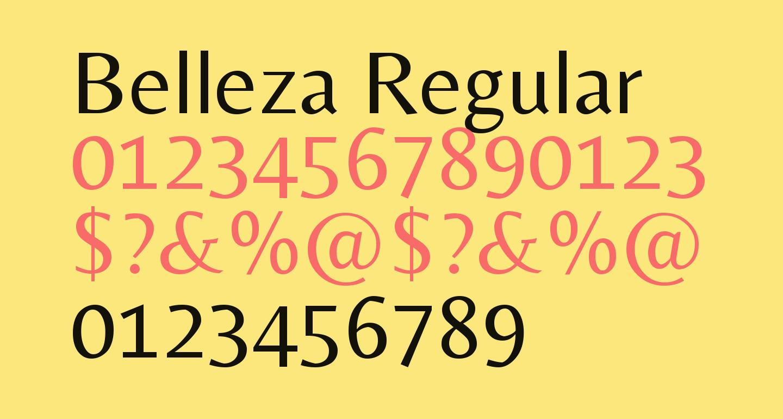 Belleza Regular