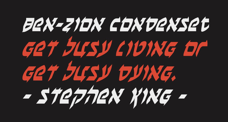 Ben-Zion Condensed Italic