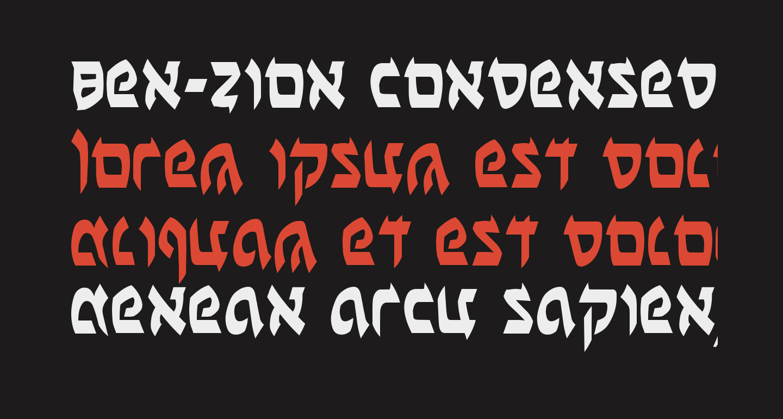 Ben-Zion Condensed