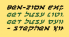 Ben-Zion Expanded Italic