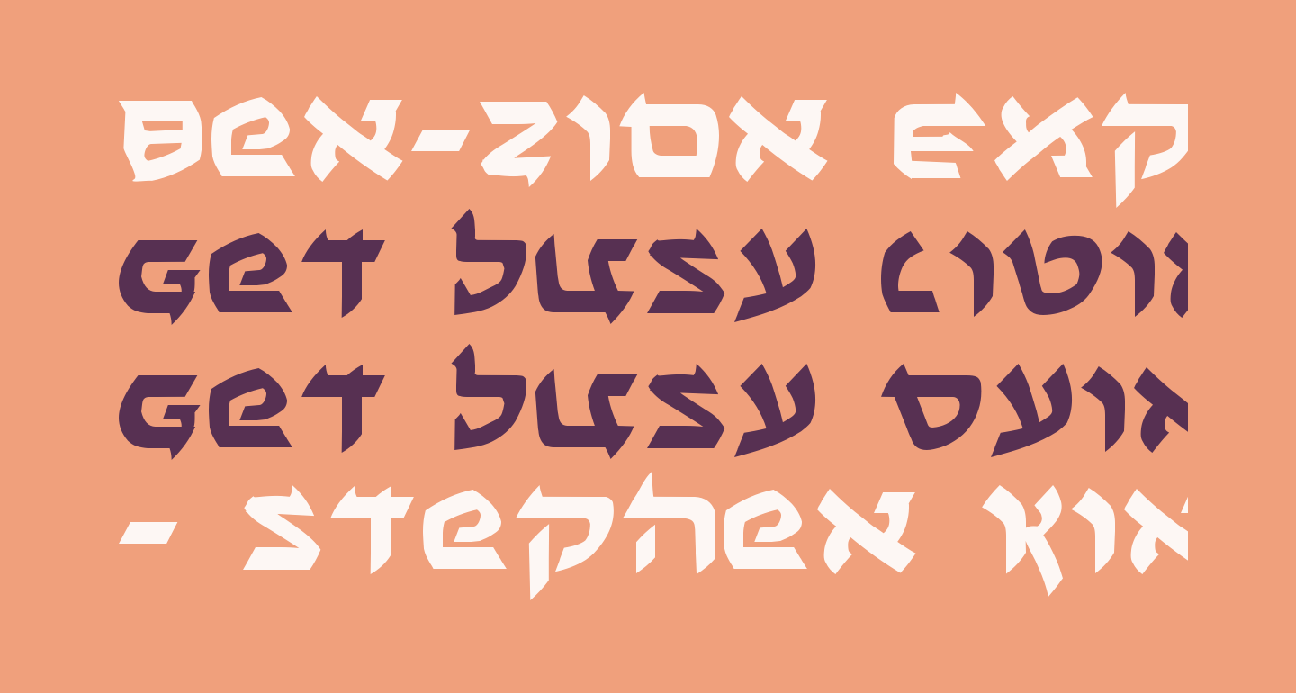 Ben-Zion Expanded