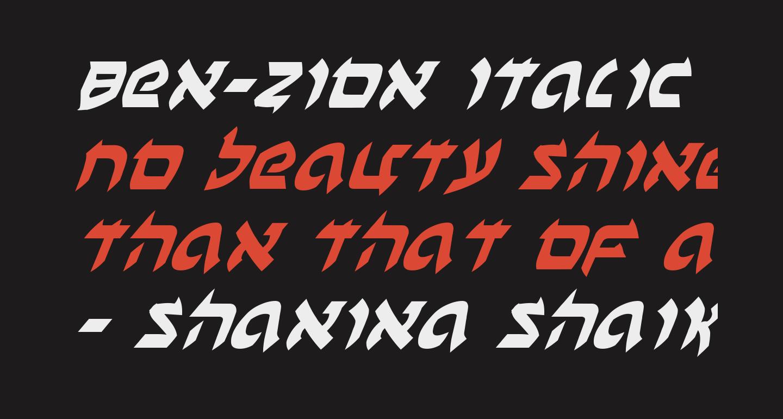 Ben-Zion Italic