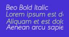 Beo Bold Italic
