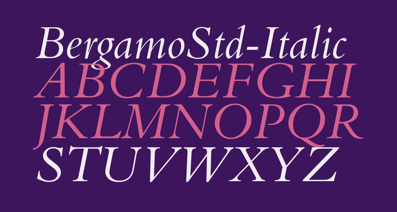 BergamoStd-Italic