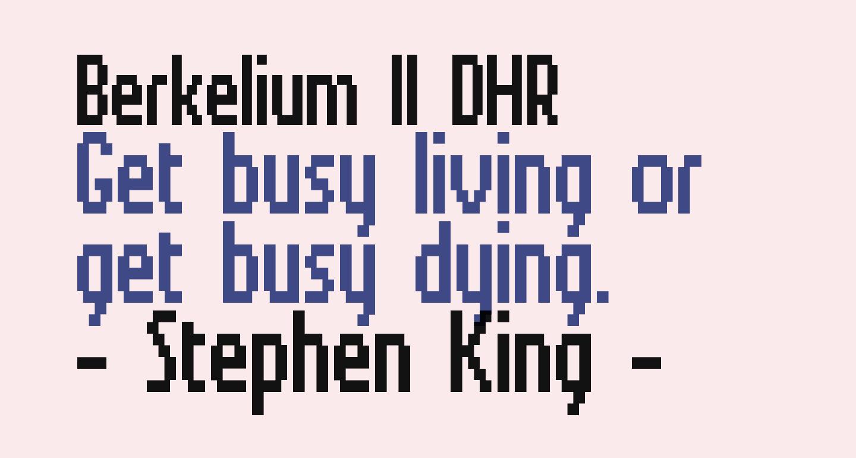 Berkelium II DHR