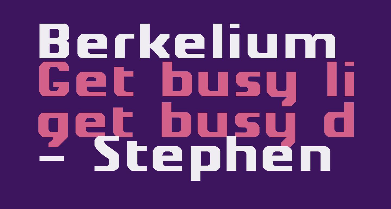 Berkelium Type