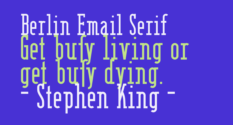 Berlin Email Serif