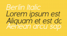 Berlin Italic