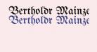 Bertholdr Mainzer Fraktur