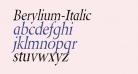 Berylium-Italic
