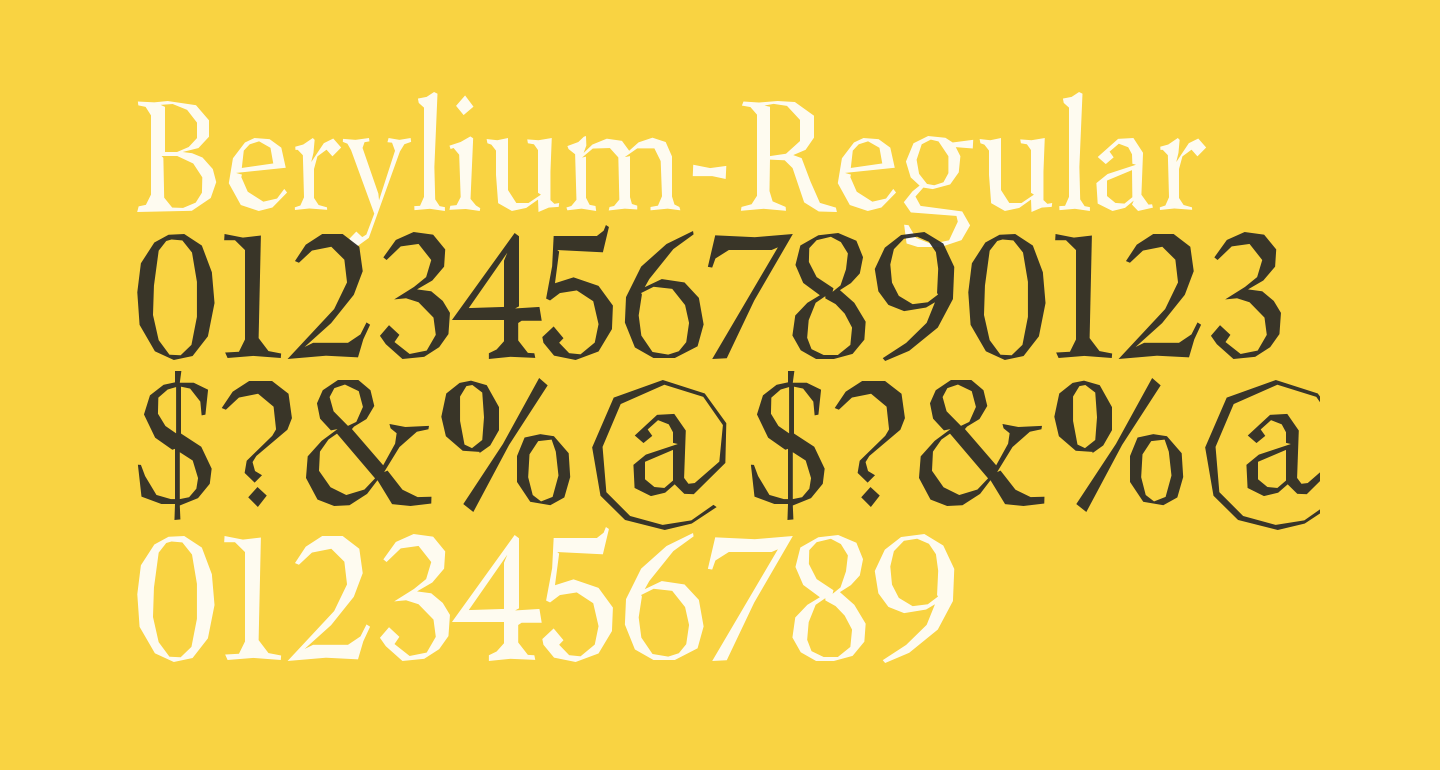 Berylium-Regular