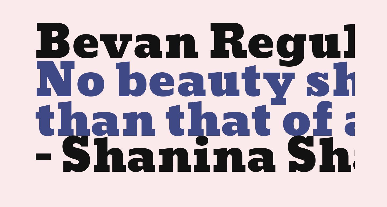 Bevan Regular