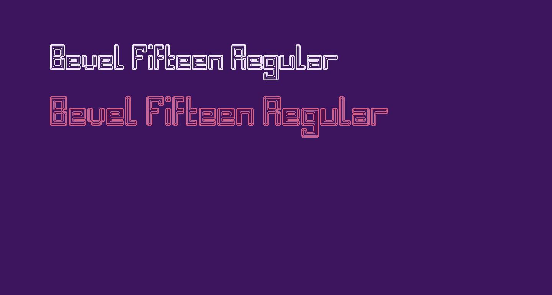 Bevel Fifteen Regular