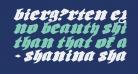 Bierg?rten Expanded Italic