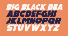 Big Black Bear Italic